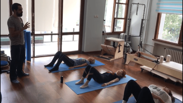 A class at The Pilates Lab